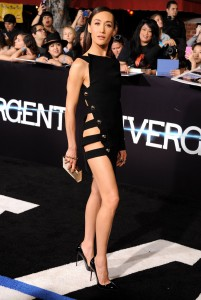 Maggie Q (NIKITA - Premium Action) alla premiere di Divergent