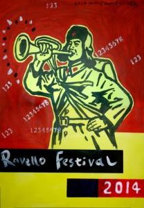 2014, Wang Guangyi,Festival di Ravello 2014, Arcrlic on Paper_b