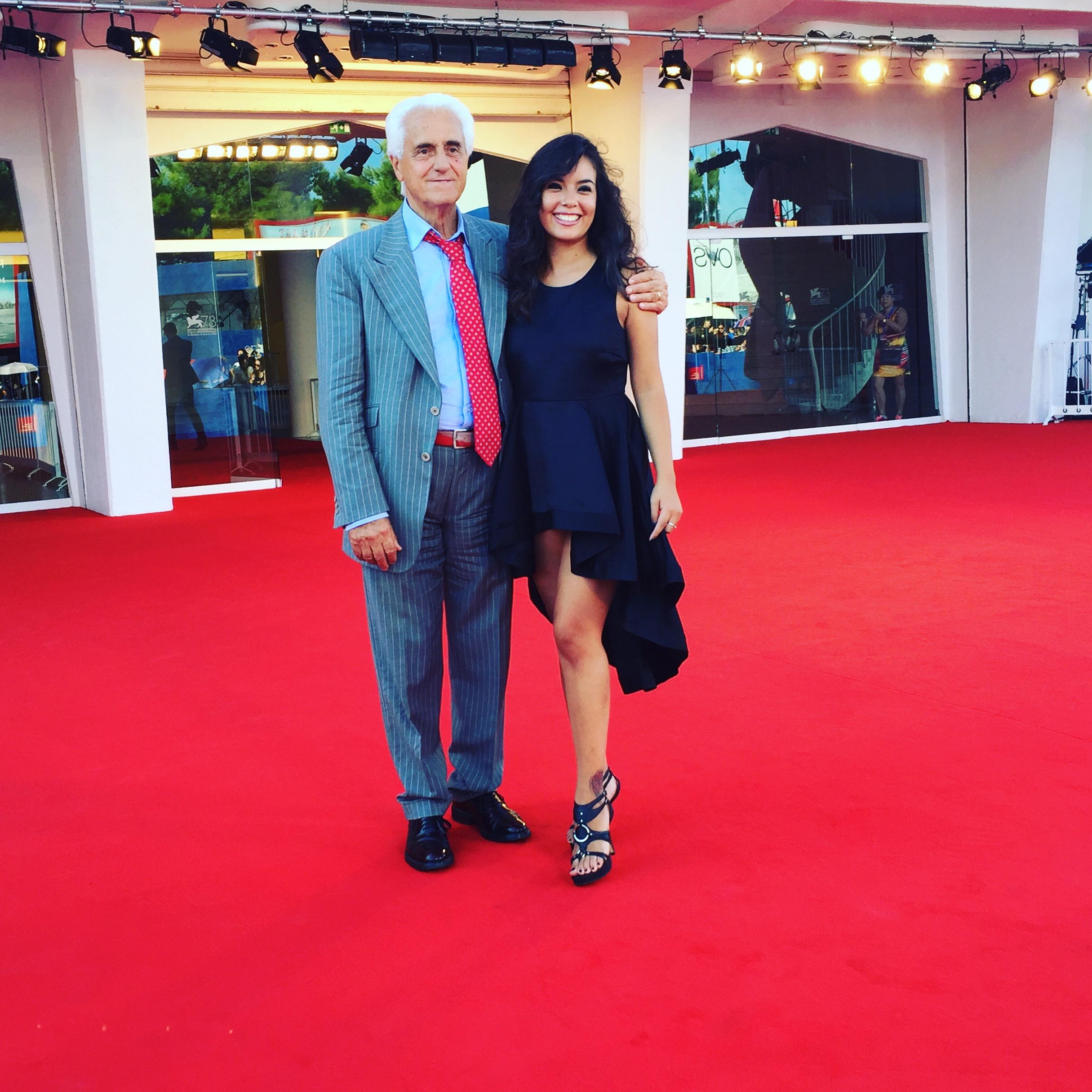 Luz Adriana Sarcinelli con il produttore cinematografico Pietro Innocenzi