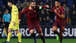 De Rossi esulta per il gol dell'1-0 firmato Emerson