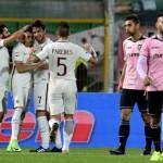 Una Roma poco brillante passa al Barbera. 3-0 al Palermo