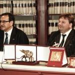 IL PRESIDENTE SILENO CANDELARESI PATRON DEL LEONE D'ORO DI S. MARCO  'PREMIA L'ITALIA CHE VINCE'