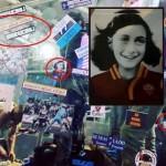 Roma – Stadio Olimpico la curva sud tappezzata con scritte antisemite