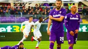 L'esultanza del primo gol in Serie A di Gerson.