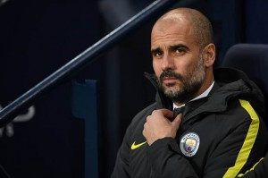 l'allenatore del Manchester City Per Guardiola