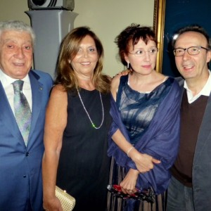 Con Roberto Benigni e Nicoletta Mantovani