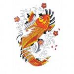 tatuaggio-carpa-koi-dorata