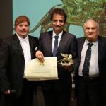 La premiazione del prof. Francesco Bonini