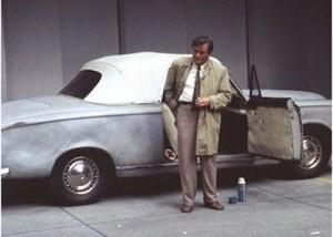 L'auto in una scena del telefilm
