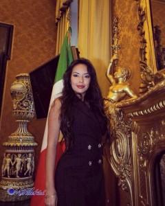 La conduttrice Luz Adriana Sarcinelli