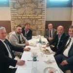 Unione cattolica: il segretario Ivano Tonoli insieme alla sua delegazione